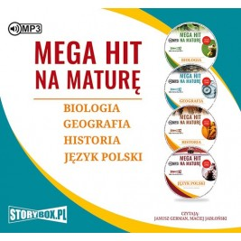 Pakiet. Mega hit na maturę. Biologia. Geografia. Historia. Język polski